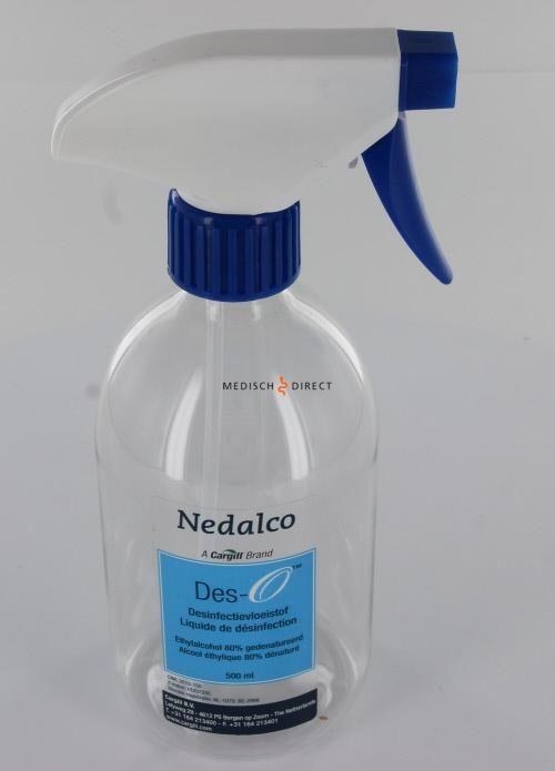 Afbeelding van NEDALCO DES-O DESINFECTIE-ALCOHOL SPROEIFLESJE + TRIGGER (500ml)