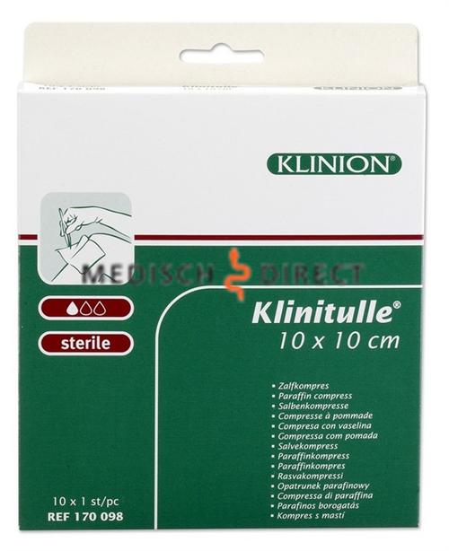 Afbeelding van KLINITULLE ZALFGAAS 10 x 10cm (10st) 170098