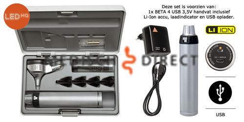 Afbeelding van HEINE BETA 200 LED OTOSCOOP SET + USB LADER