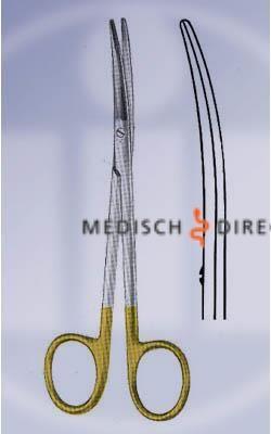 Afbeelding van METZENBAUM PREPAREERSCHAAR TC GEBOGEN STOM(1st)OMP 11,5cm